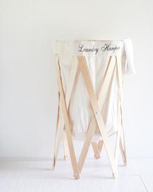アイボリー×ナチュラル ナチュラルな洗濯かご Laundry Hamper(ランドリーハンパー)を見る
