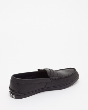 BLACK LEATHER NANTUCKET LOAFER IIを見る