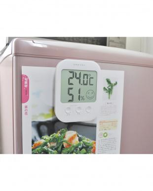 ホワイト デジタル温湿度計「オプシス」を見る