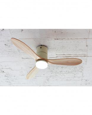 ホワイト Modern Collection LED シーリングファン REAL wood bladesを見る
