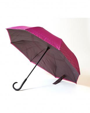 ピンク×ドット 2重傘 circus(サーカス) 晴雨兼用を見る