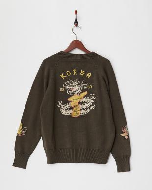 OLIVE DRAB 刺繍C-2セーターを見る