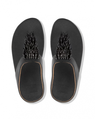 BLACK RUMBA TOE-THONG SANDALSを見る