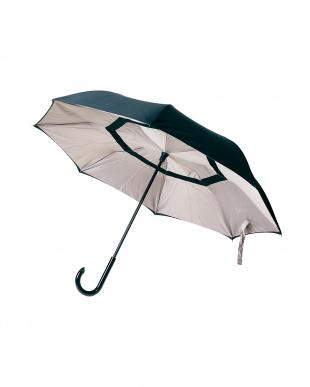 ベージュブラック 2重傘 circus(サーカス) 晴雨兼用を見る