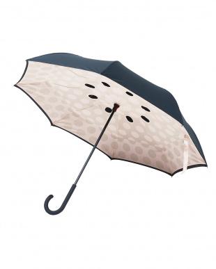 アーモンドベージュ 2重傘circus(サーカス)Dot 晴雨兼用を見る
