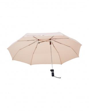 アーモンドベージュ 軸をずらした傘 Sharely(シェアリー) 折り畳み傘 撥水加工を見る