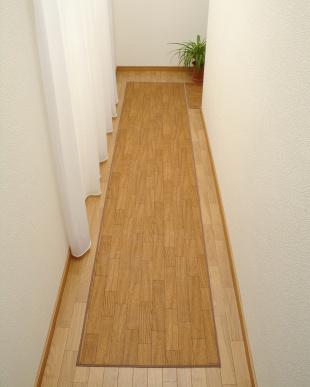 ダークウッド 木目調キッチンマット 60×250cmを見る
