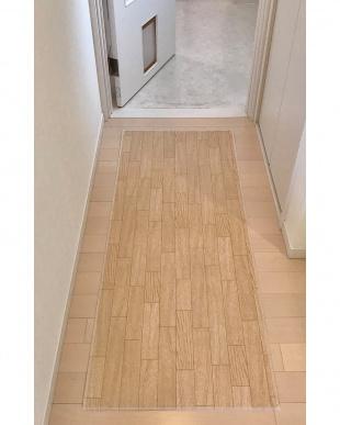 ホワイトオーク 木目調キッチンマット 60×250cmを見る