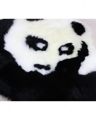 ホワイト×ブラック パンダ ミニラグを見る