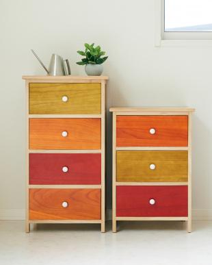 カラー 木製4段チェスト armadioを見る