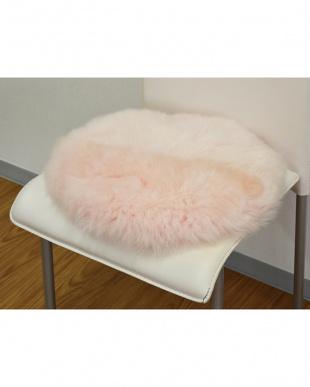 ピンク 円形長毛シートクッション 直径35cmを見る