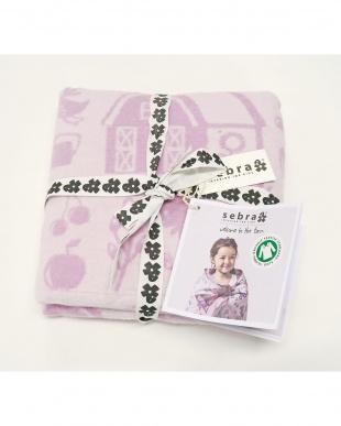 ピンク ベビーブランケット 織り ファームガール Pkを見る