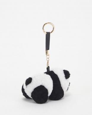 ホワイト ムートンチャーム(パンダ)Mを見る