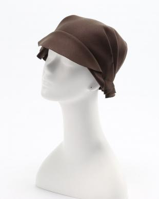 カーキ リバーシブルウールタック帽を見る