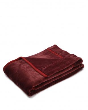 エンジ 〈泉大津の熟練職人が作る〉ボリューム満点アクリル合せ毛布を見る