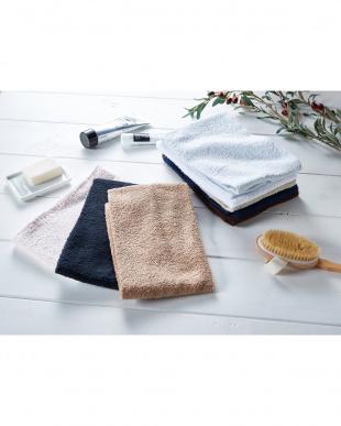 ブルー 細番手高級糸「コーマ綿」 フェイスタオル 4枚セットを見る