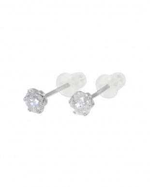 Pt900 天然ダイヤモンド 計0.3ct プラチナ6本爪 スタッドピアスを見る
