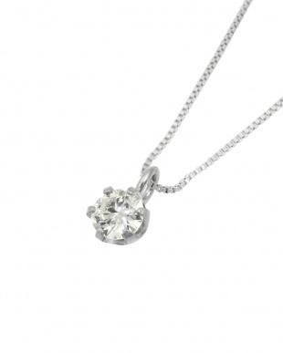Pt 天然ダイヤモンド 0.1ct VSクラス 6本爪ネックレス・ベネチアンチェーンを見る