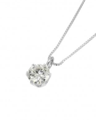 Pt 天然ダイヤモンド 0.2ct VSクラス 6本爪ネックレス・ベネチアンチェーンを見る
