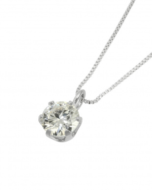 Pt 天然ダイヤモンド 0.3ct VVSクラス 6本爪ネックレス・ベネチアンチェーンを見る