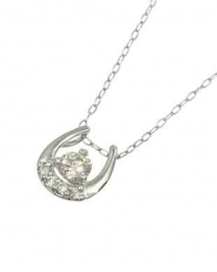 Pt 天然ダイヤモンド 0.2ct 馬蹄プラチナ ネックレスを見る