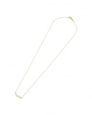 イエローゴールド K10YG キュービック淡水パール ネックレスを見る