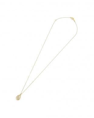 イエローゴールド K10YG ムーンストーンホワイトトパーズ ネックレスを見る