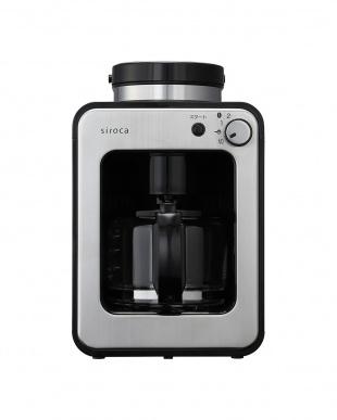 ブラック/ステンレスシルバー siroca 全自動コーヒーメーカー SC-A211を見る