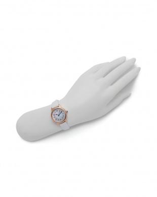ピンクゴールド/ホワイト 腕時計を見る