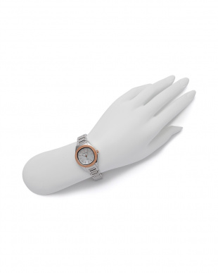 シルバー/ピンクゴールド 腕時計を見る