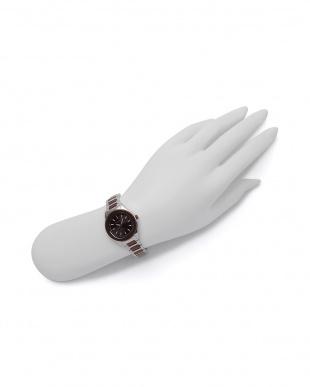 シルバー/ブラウン 腕時計を見る