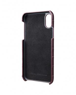 ワイン EURO Passione Croco Shell PU Leather Case for iPhone X/XSを見る