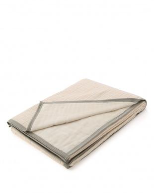 ベージュ 日本製シールガーゼ綿毛布(シングル)を見る