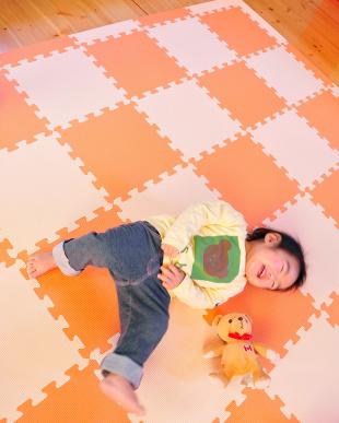 ベージュ&オレンジ 抗菌 フロアーマット ツートンカラーを見る