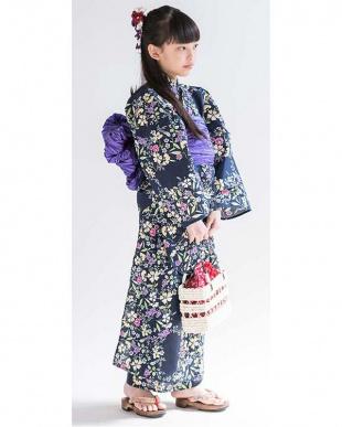 夏野花繚乱×菫色 京都発 こだわり浴衣セット [浴衣・帯]を見る