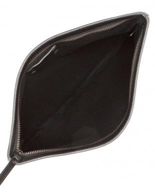 black HEXAGONE ポイントレザー クラッチバッグ 34×25cmを見る