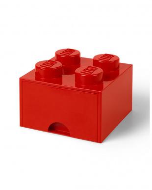 ブライトレッド レゴブリックドロワー4 レゴ収納ボックス 引き出しタイプを見る