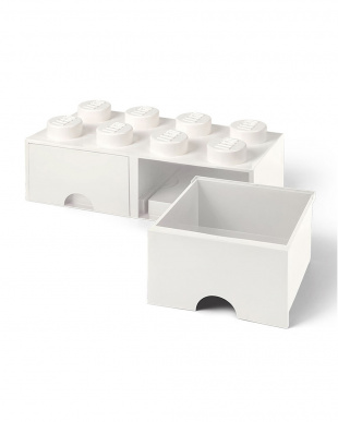 ホワイト レゴブリックドロワー8 レゴ収納ボックス 引き出しタイプを見る