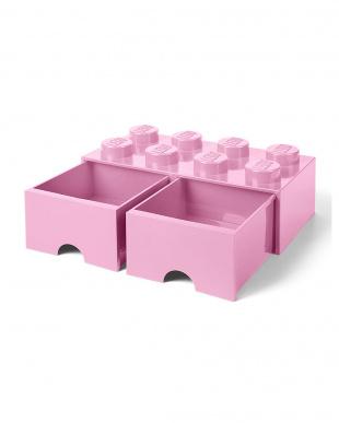 ライトパープル レゴブリックドロワー8 レゴ収納ボックス 引き出しタイプを見る
