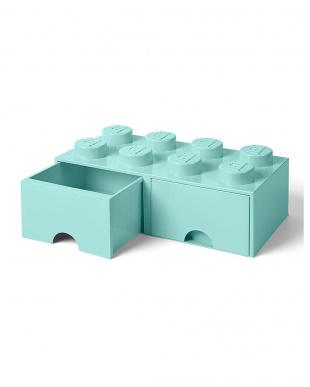 アクアライトブルー レゴブリックドロワー8 レゴ収納ボックス 引き出しタイプを見る