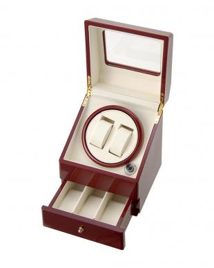 ワインレッド ロイヤルハウゼン時計2本用 ワインダー+3本収納を見る