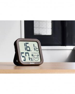 ダークウッド デジタル温湿度計を見る