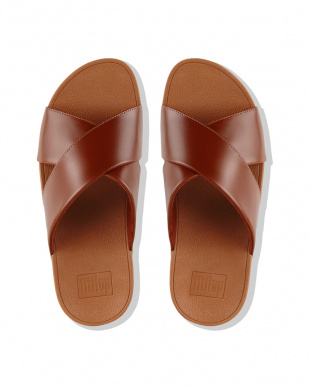 Caramel LULU CROSS SLIDE SANDALS - LEATHERを見る