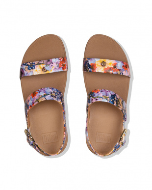 Oyster Pink LOTTIE FLOWERCRUSHBACK-STRAP SANDALSを見る