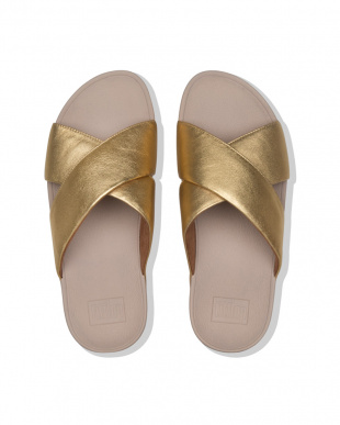 Artisan Gold LULU CROSS SLIDE SANDALS - LEATHERを見る