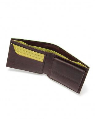 Brown x Green 二つ折り小銭入れ付財布を見る