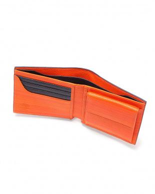 Orange x Navy 二つ折り小銭入れ付財布を見る