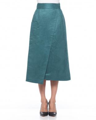 ORANGE カラースエードラップスカートを見る