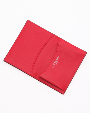 CHERRY RED VISIT CARD HOLDER WITH STUDSを見る