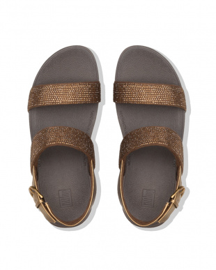 Bronze LOTTIE SHIMMERCRYSTAL BACK-STRAP SANDALSを見る